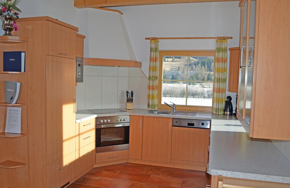 Küche Ferienwohnung Weißpriach